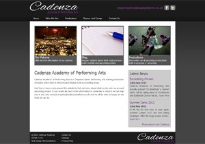Cadenza Academy website design