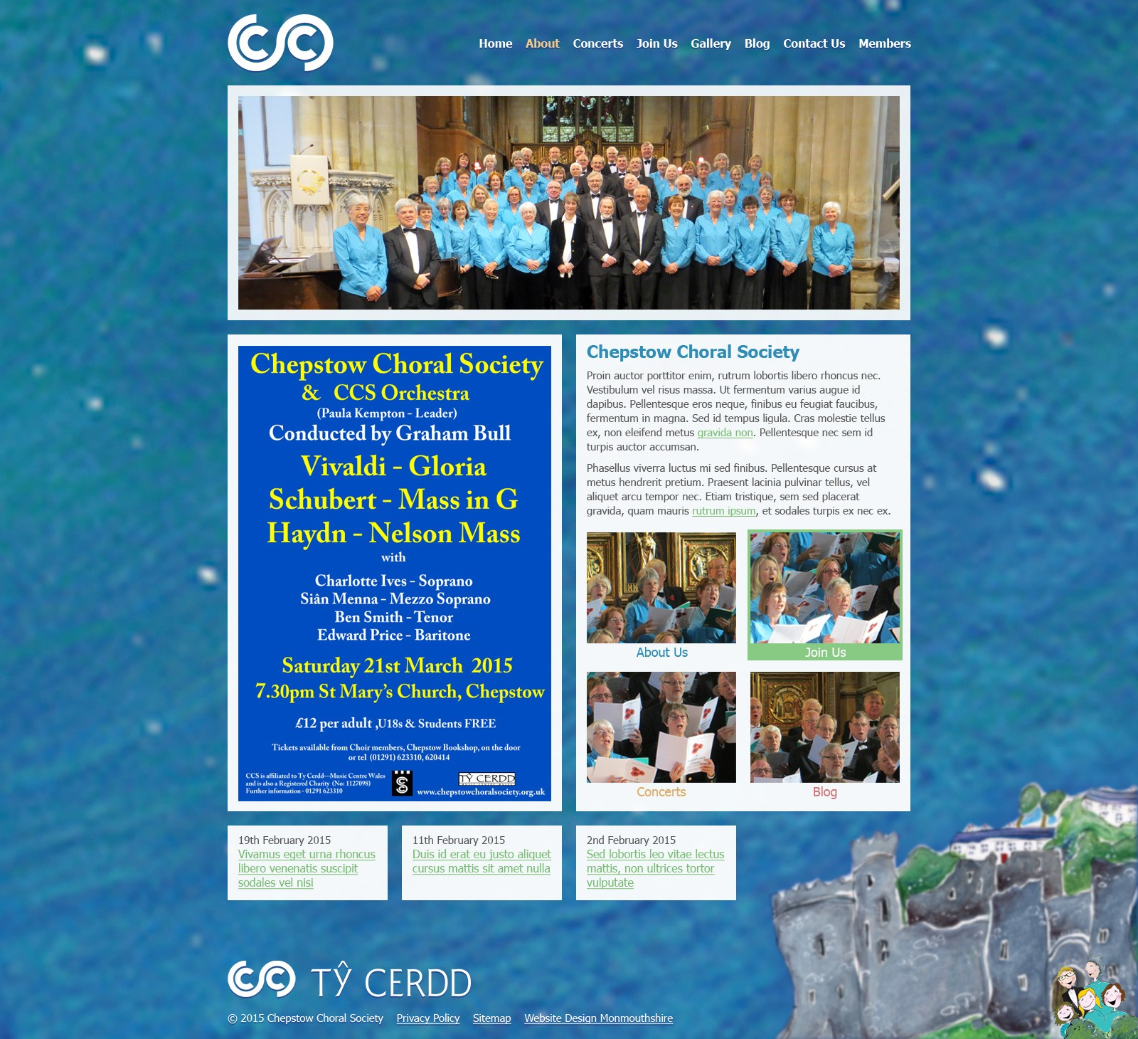 Chepstow Choral Society website screenshot