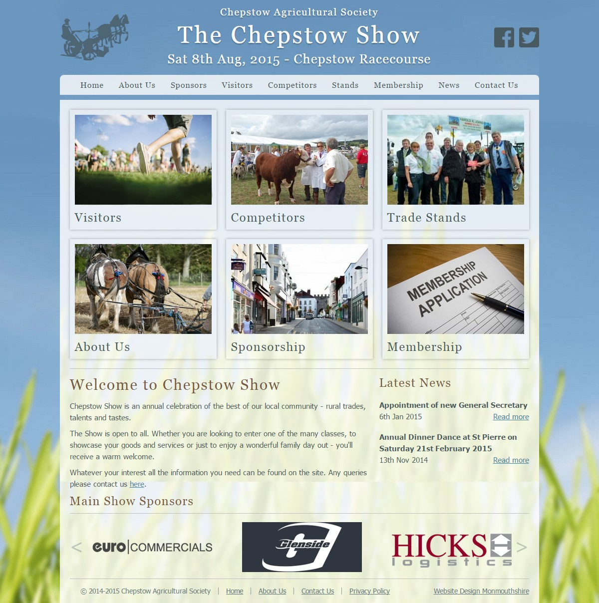 The Chepstow Show website