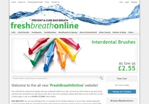Website design for FreshBreathOnline