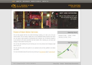 S.C. George and Son website thumb