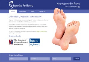 Stepwise Podiatry website thumbnail
