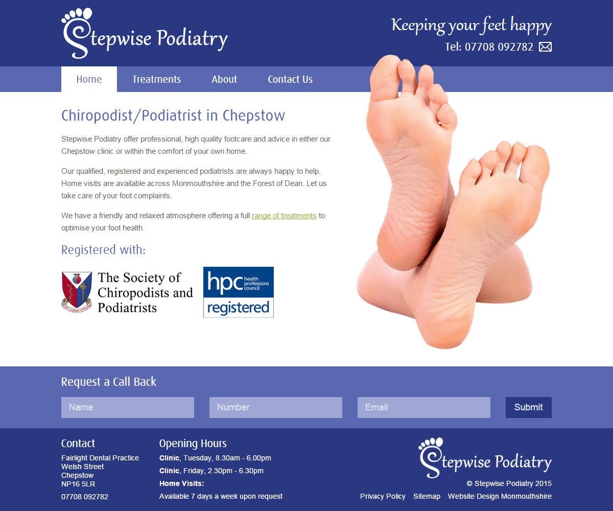 Stepwise Podiatry website