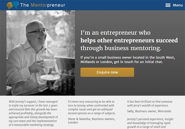 The Mentorpreneur website thumbnail